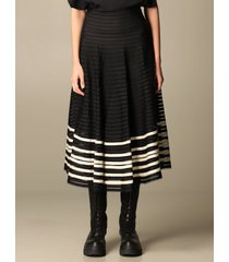 red valentino skirt red valentino midi skirt with grosgrain ribbons on tulle