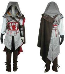 assassin's creed ii ezio costume adult ezio cosplay white outfit full set