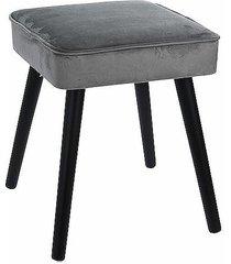 stołek taboret tapicerowany szary