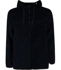 a.p.c. fur zipped hoodie