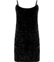 vestido en velvet color negro, talla 10