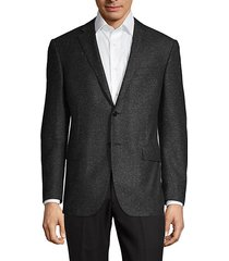 classic-fit wool & silk donegal tweed suit jacket