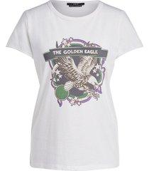 t-shirt met print eagle  wit