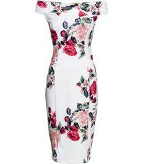abito a fiori con spalle scoperte (bianco) - bodyflirt boutique