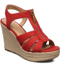 berkley wedge sandalette med klack espadrilles röd michael kors