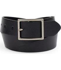 club room men's faux leather belt, created for macy's