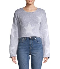 star-print cropped sweater