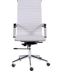 cadeira de escritório esteirinha alta - branca