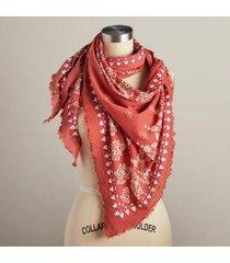 sundance catalog women's sunshine & rain scarf in wine