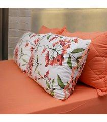 conjunto de lenã§ol casal pertutty 100 porcento algodã£o toque macio - laranja - dafiti
