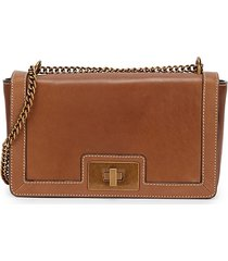 sam edelman women's dallie leather crossbody bag - luggage