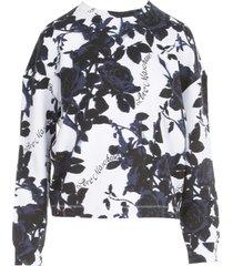 love moschino oversized round neck sweatshirt