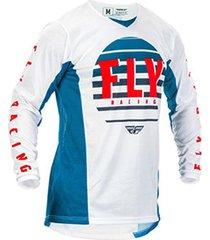 jersey azul/blanco/rojo fly k220