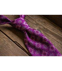 krawat jedwabny - geometryczne wzory