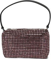 medium heiress rhinestone pouch prism pink