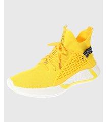zapatilla amarillo vía franca