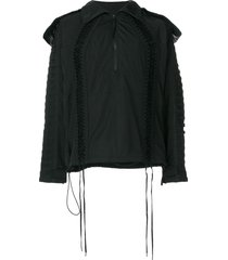 ktz deconstructed lace-up jacket - black