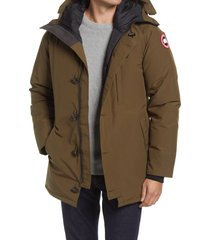 canada goose men's chateau slim fit 625 fill down parka, size large in military green at nordstrom