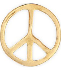 'peace' 18k yellow gold charm - serenity