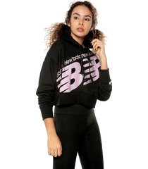 hoodie negro-rosa new balance nb ath crpd