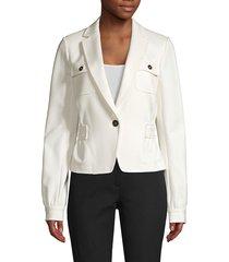 donna karan new york women's cleo ponte blazer - cream - size 6