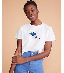 lou & grey comune blueberry tee