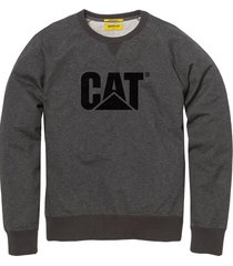 buzo gris cat design mark crew sweatshirt