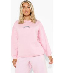 bridal i do crew sweater, pale pink