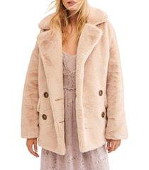 women's free people kate faux fur coat
