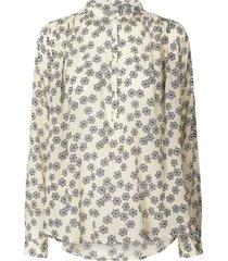blouse met bloemenprint lari  creme