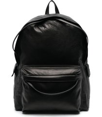 ann demeulemeester multi-pocket leather backpack - black