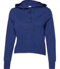 chiara knitted hoodie sweat-shirt tröja blå filippa k