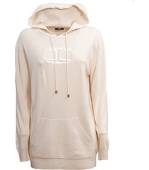 elisabetta franchi hooded sweatshirt and pouch