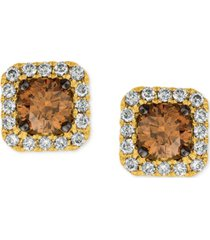 le vian chocolatier diamond (3/4 ct. t.w.) halo stud earrings in 14k white gold, rose gold or yellow gold.