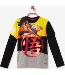 """dragon ball"" sequins t-shirt - black - 13/14"
