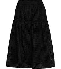 lyon skirt knälång kjol svart just female