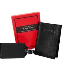 perry ellis men's passport case & luggage tag