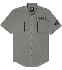ecko unltd men's space force short sleeve woven shirt