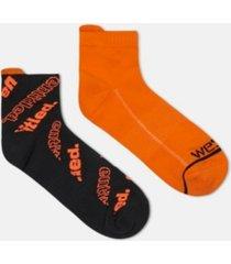 wesc quarter cut men's crew socks, 2 pack