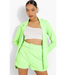 neon blazer en shorts met ceintuur, neon-green