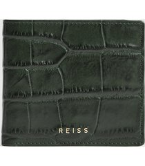 reiss cabot - leather wallet in petrol, mens