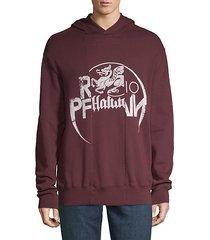 graphic cotton hooded sweatshirt