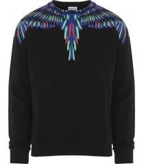marcelo burlon chalk wings sweatshirt