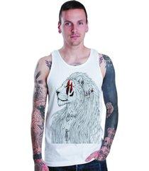 regata lucinoze camisetas lion branca