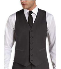 black by vera wang charcoal slim fit tuxedo vest