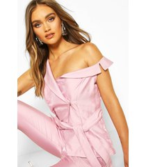 boohoo occasion lapel detail sleeveless blazer, lilac