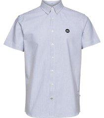 johan s/s oxford stripe skjorta casual blå kronstadt