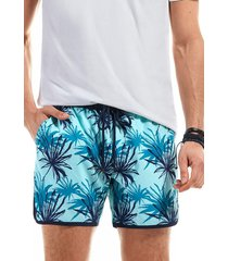 traje de baño tropical azul ferouch