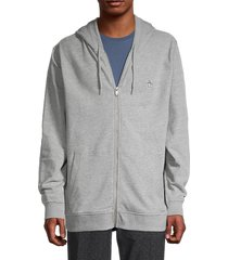 original penguin men's heathered logo hoodie - rain heather - size xl