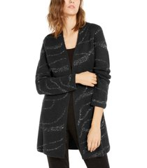 alfani sequin open-front cardigan, created for macy's